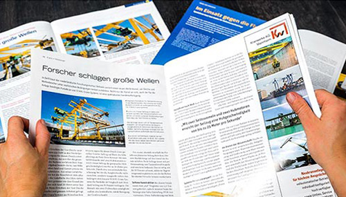 [Translate to English:] VISUELL – STAHL CraneSystems – Crane Reporter – Fachmagazine